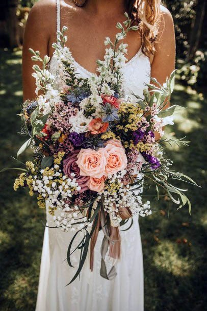 August Wedding Flowers Bouquet