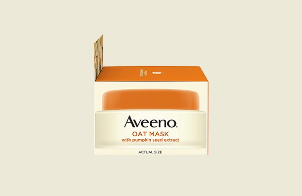 Aveeno Oat With Soothing Pumpkin Seed Extract And Feverfew Extract Face Mask For Women
