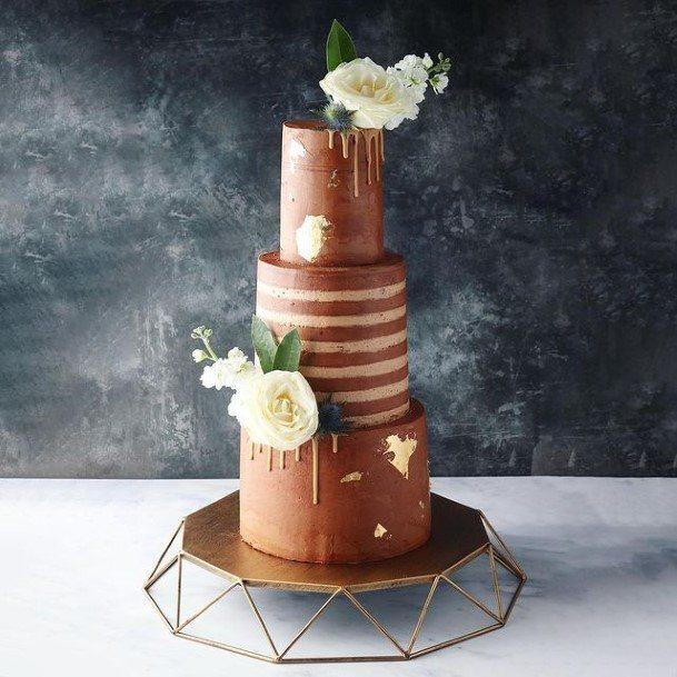 Awesome Chocolate Wedding Cake