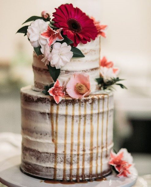 Awesome Flowers Rustic Wedding Cake Toppers