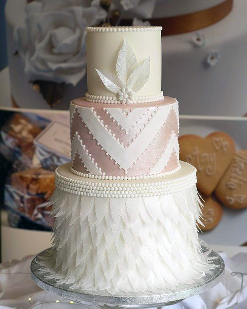 Awesome Textured 3 Tier Wedding Cake Women