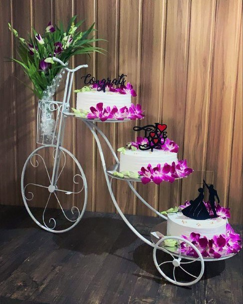 Awesome Threesome Cake Stand Women Wedding