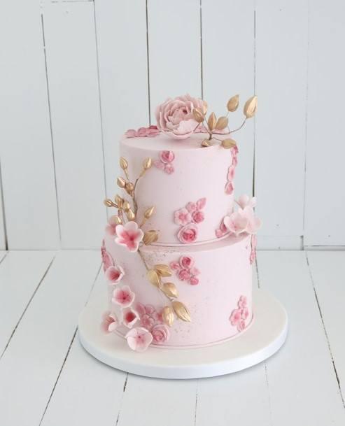 Baby Pink Beautiful Wedding Cake