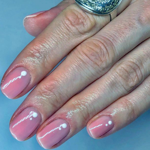 Baby Pink Colored Nails For Women