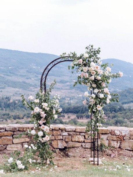 Backyard Wedding Ideas Beautiful Ceremony Backdrop