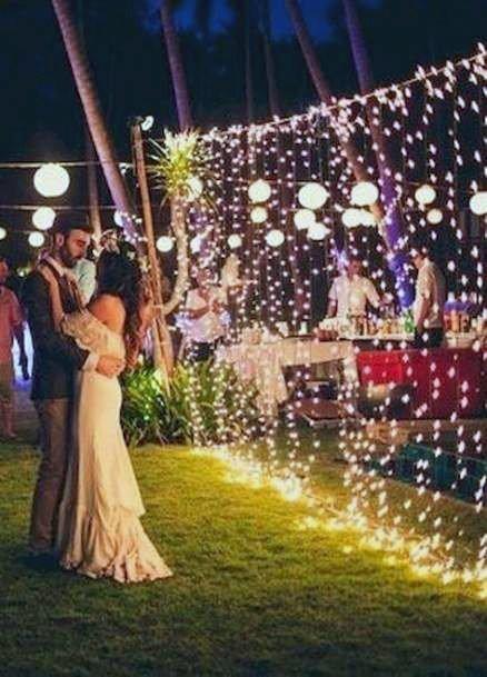 Backyard Wedding Ideas Fairy Light Mood Inspiration