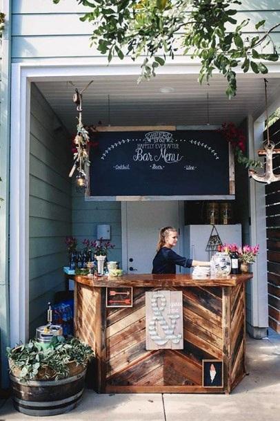 Backyard Wedding Ideas Free Standing Bar Area
