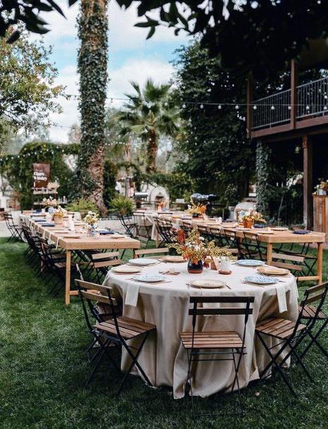 Backyard Wedding Ideas Hanging Lights