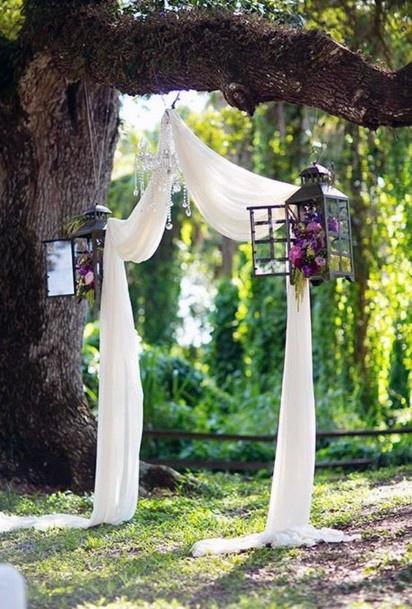 Backyard Wedding Ideas Large Tree Ceremony Arch