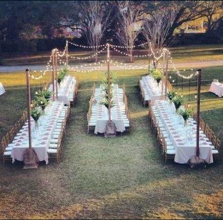 Backyard Wedding Ideas Lawn Reception With Fairy Lights
