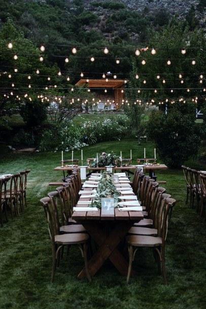 Backyard Wedding Ideas Napa Table Reception Setup