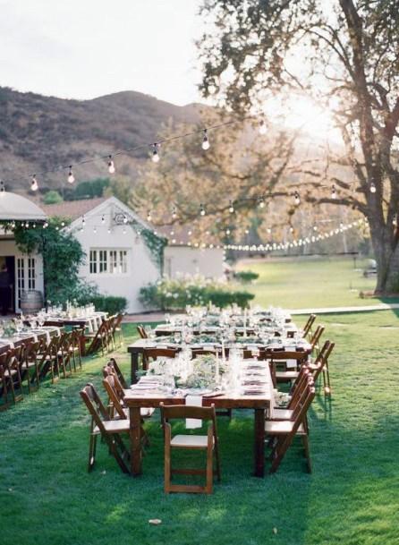 Backyard Wedding Ideas Outdoor Reception Seating