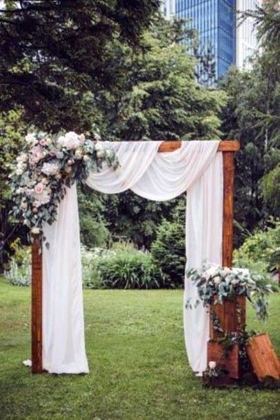 Backyard Wedding Ideas Rustic Wooden Homemade Arch