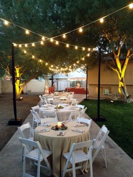 Backyard Wedding Ideas Small Reception Party