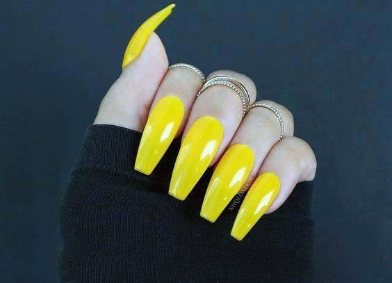 Ballerina Bright Yellow Nails For Women