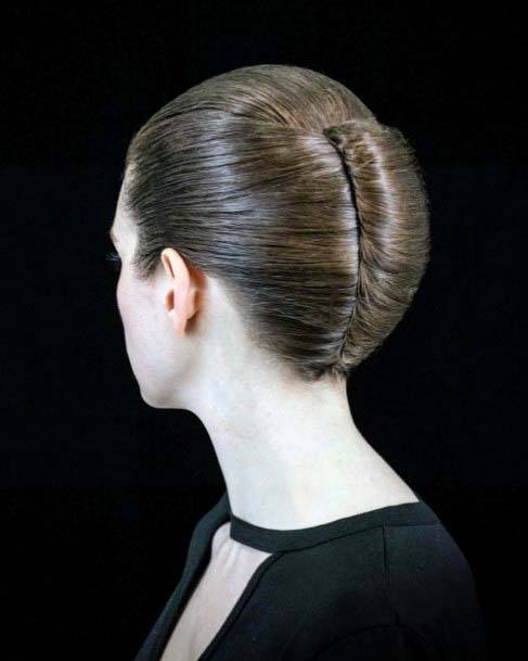 Basic Business Like Neatly Tight French Twist For Women