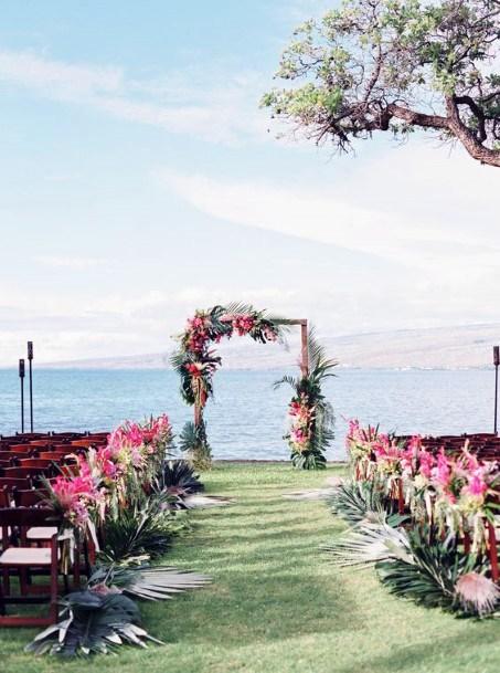 Beach Hawaiian Wedding Flowers
