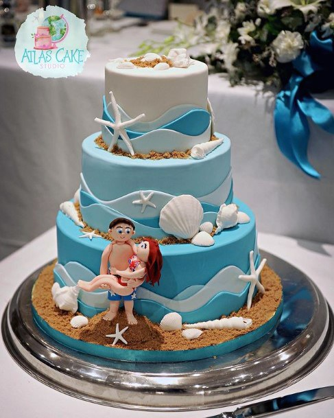 Beach Side Wedding Cake Women