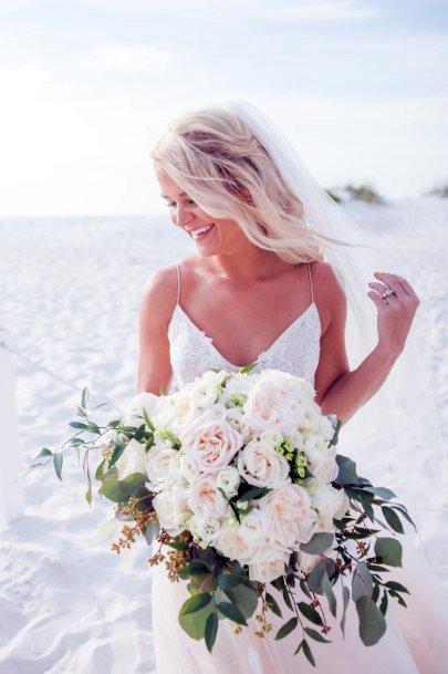 Beach Wedding Blush Flowers