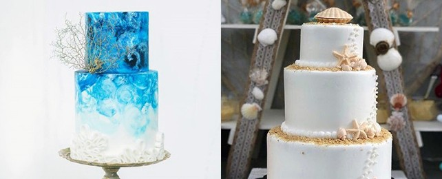 Top 60 Best Beach Wedding Cake Designs – Ocean Themed Cake Ideas