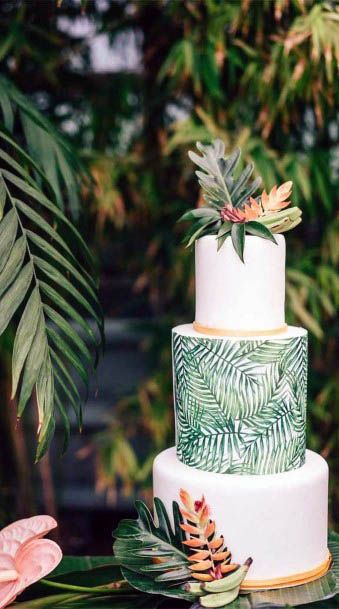 Beach Wedding Flowers Cake Decor