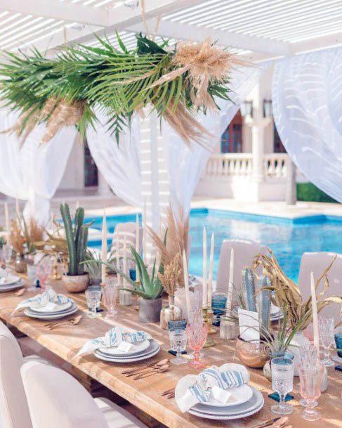 Beach Wedding Flowers Table Art