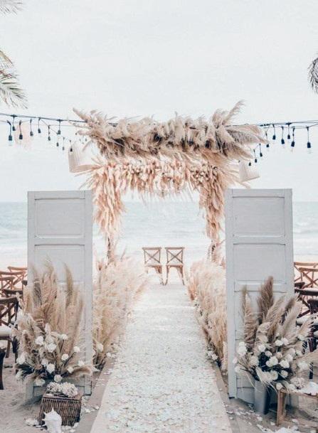 Beachside Boho Wedding Flowers Decoration Art