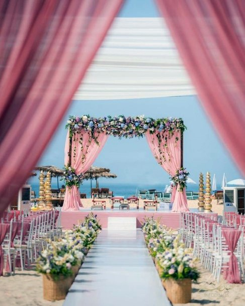 Beachside Decor Indian Wedding Flowers
