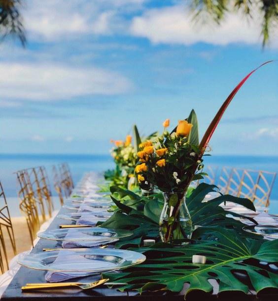 Beachside Hawaiian Wedding Flowers