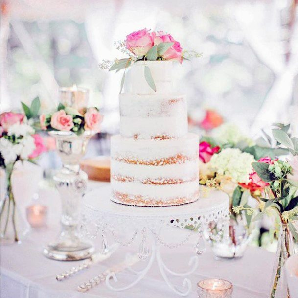 Beaded Chain Design Wedding Cake Stand Women