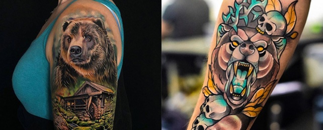 Top 100 Best Bear Tattoo Designs For Women – Powerful Body Art