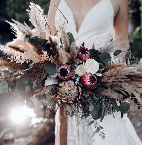Beautiful Boho Wedding Flowers