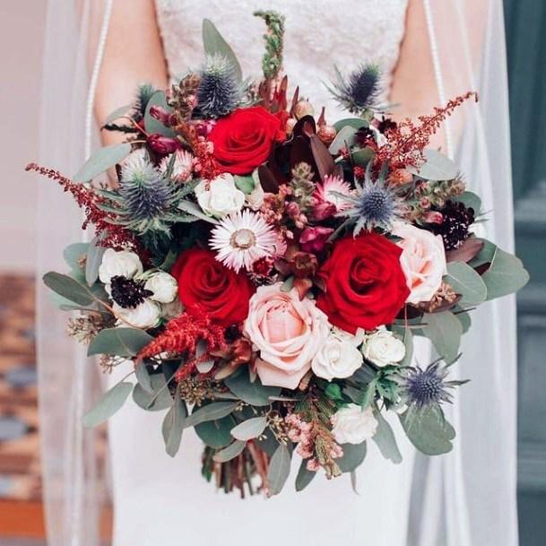 Beautiful Christmas Wedding Flowers