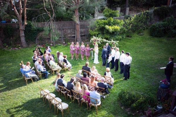 Beautiful Lawn And Garden Ceremony Backyard Wedding Ideas