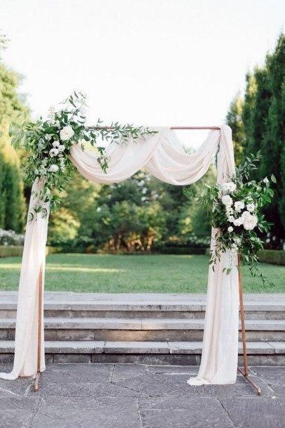 Beautiful Lawn Backdrop Ceremony Backyard Wedding Ideas