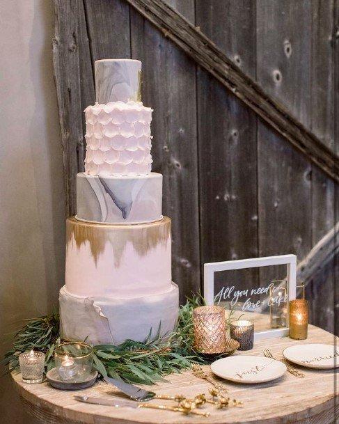 Beautiful Multi Textured Wedding Cake