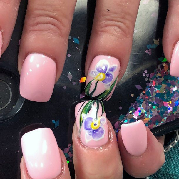 Beautiful Orchids Nail Design
