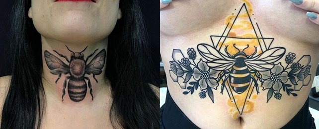 Top 110 Best Bee Tattoo Ideas For Women – Buzzing Body Art