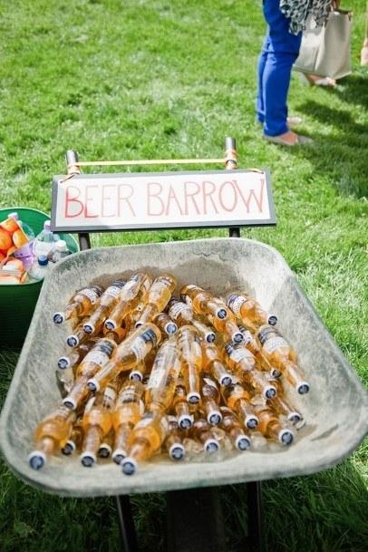 Beer Backyard Wedding Ideas