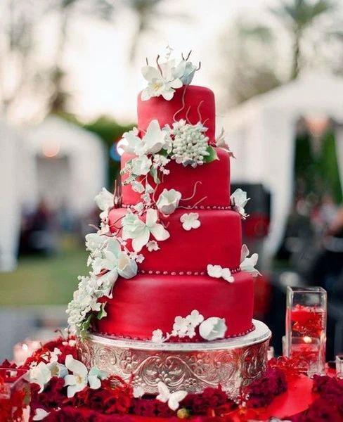 Beet Red Velvet Wedding Cake