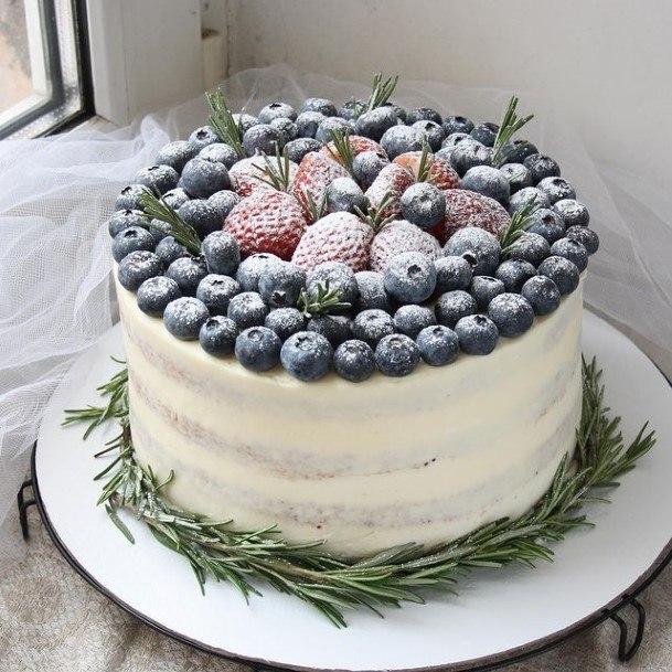 Berries Rustic Wedding Cake Toppers