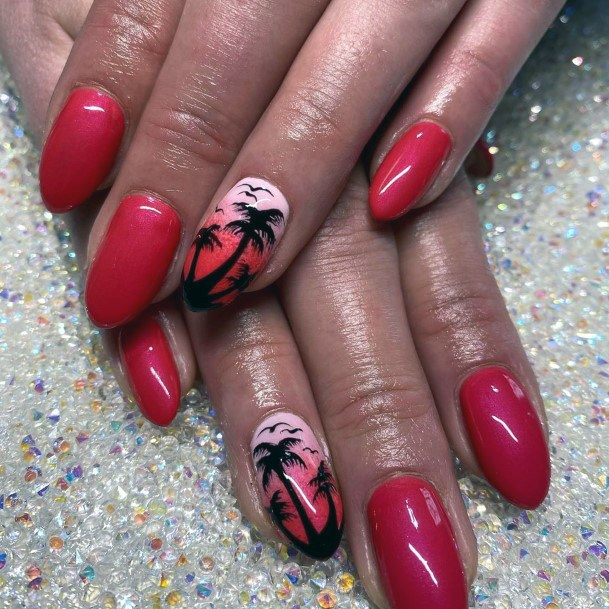 Berry Nails Tropical Themed Nails Women
