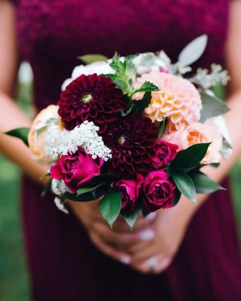 Berry Red August Flowers Wedding