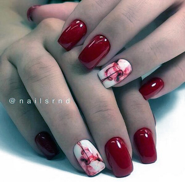 Best Bright Red Nails Idea Art For Women