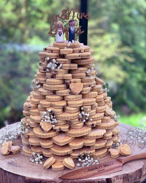 Biscuit Abundance Unique Wedding Cake