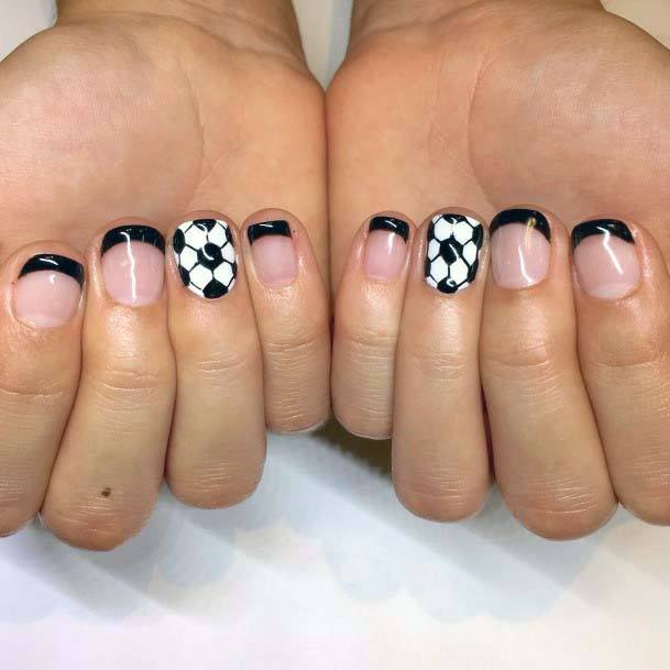 Black And White Sport Nails For Women