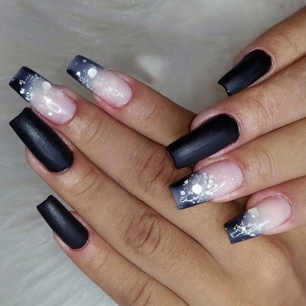 Black Pink Ombre With Sparkles Women