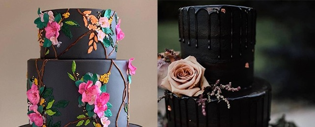 Top 80 Best Black Wedding Cake Ideas – Dark Modern Cake Designs