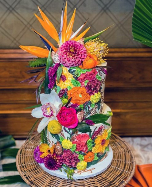 Blast Of Colors Unique Wedding Cake