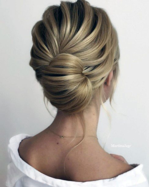 Blonde French Twist Bun With Seashell Style For Girls And Women